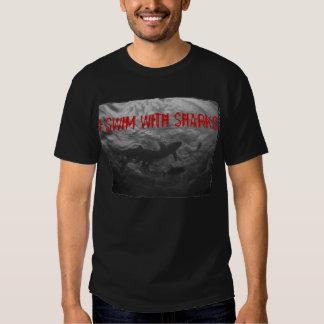 I swim with sharks tee shirt