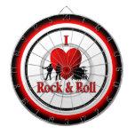 I tablero de dardo de regla del rock-and-roll del  tablero dardos