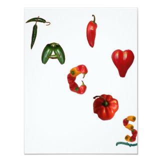 I Tacos del corazón Invitación 10,8 X 13,9 Cm