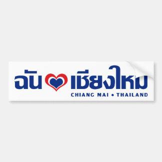 I ❤ Tailandia de Chiang Mai del corazón amor Pegatina De Parachoque