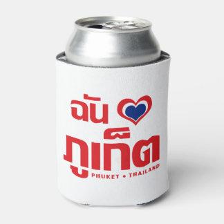 I ❤ Tailandia de Phuket del corazón (amor) Enfriador De Latas