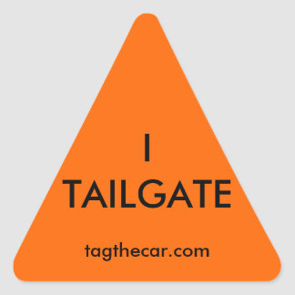 I Tailgate Triangle Sticker
