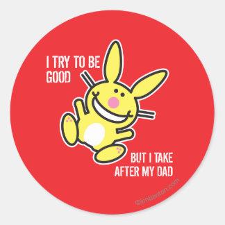I Take After My Dad Classic Round Sticker