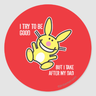 I Take After My Dad Round Stickers
