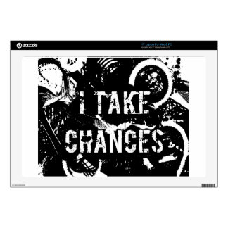 i take chances.  Feel Good.Tell the World. Decals For Laptops