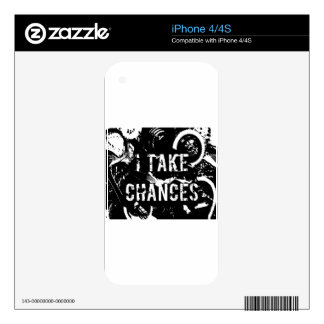 i take chances.  Feel Good.Tell the World. Skin For The iPhone 4S