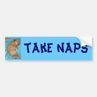 I take naps bumper sticker