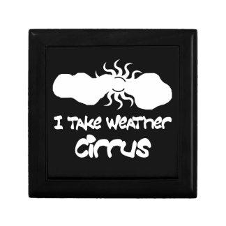 I Take Weather Cirrus Trinket Box