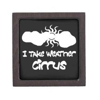 I Take Weather Cirrus Premium Keepsake Boxes