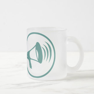 I talk science frosted glass coffee mug