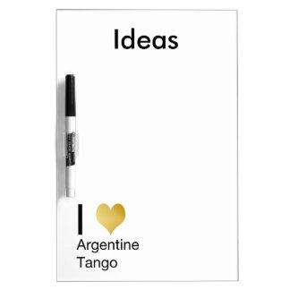 I tango de Argentina del corazón Pizarras Blancas