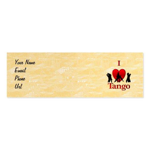 I tango del corazón tarjetas de visita mini