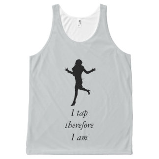 I Tap, Therefore I am All-Over-Print Tank Top