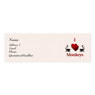 I tarjeta de visita de monos del corazón