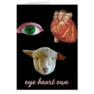 I tarjeta del el día de San Valentín de la oveja d