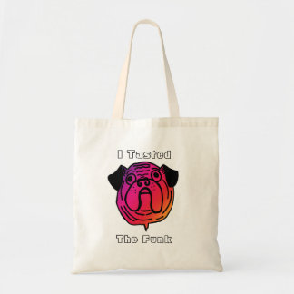 I Tasted The Funk Psychedelic Pug Tote Bag