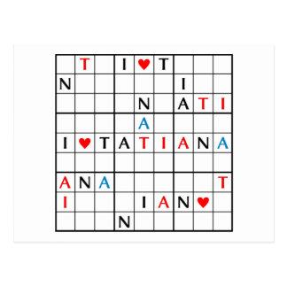 I♥TATIANA POSTCARD