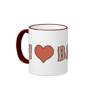 I taza 001 del tocino del corazón