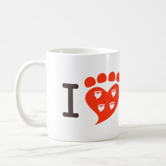 I taza canina de la ciencia del corazón
