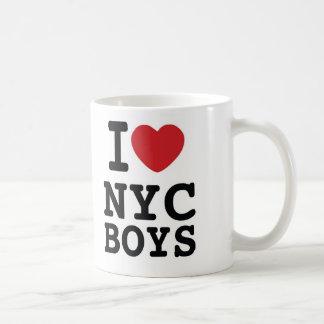 I taza de café de los muchachos del corazón NYC