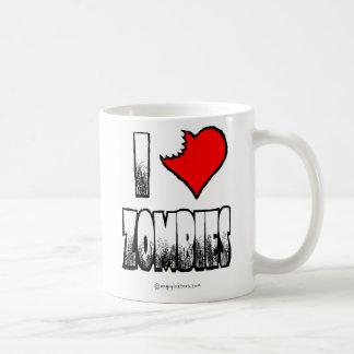 I taza de café de los zombis del corazón