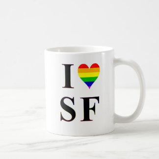 I taza de café de San Francisco del corazón del ga