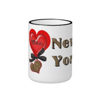 I taza de café del leopardo de la Srta. (corazón)