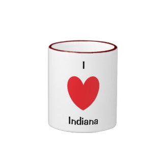 I taza de Indiana del corazón