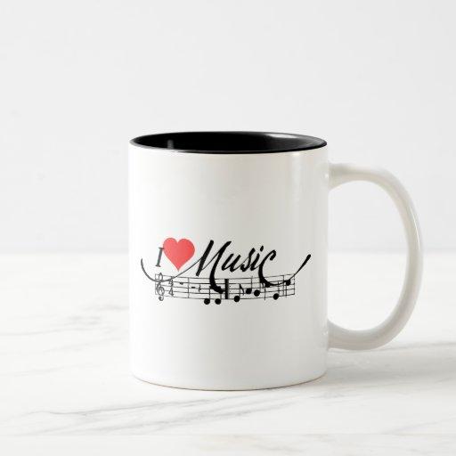 I taza de la música del corazón