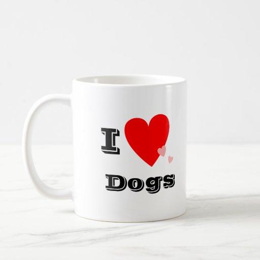I taza de los perros del corazón (amor)