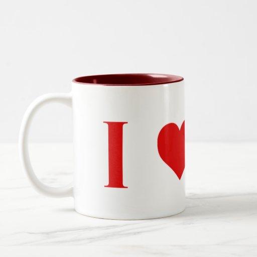 I taza de Marte del corazón -- Dos tono - 11 onzas