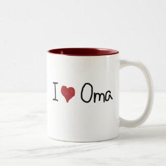 I taza de Oma del corazón
