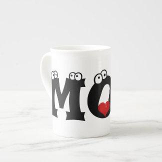I taza de té feliz del día de madre de la mamá del taza de porcelana