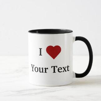 I taza del corazón (personalice)