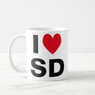 I taza del SD del corazón