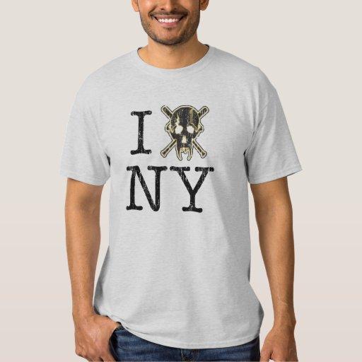 I TDogs Skull NY T Shirt