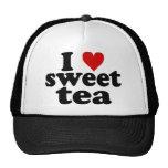 I té del dulce del corazón gorras de camionero