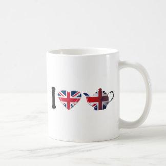 I té inglés del corazón, arte patriótico de la div tazas