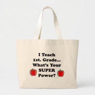 I teach 1st. Grade Large Tote Bag