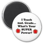I Teach 2nd. Grade 2 Inch Round Magnet