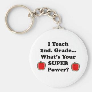 I Teach 2nd Grade Keychain