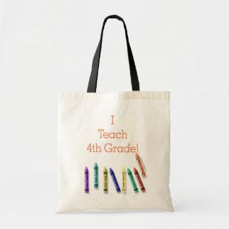 I Teach 4th Grade! Canvas Bags