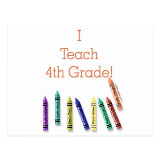 I Teach 4th Grade! Postcard