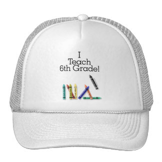 I Teach 6th Grade Mesh Hat