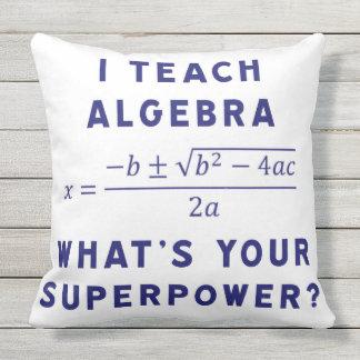 i teach algebra throw pillow
