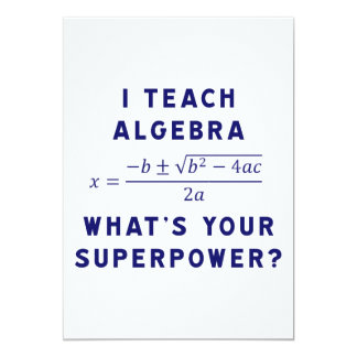 I Teach Algebra / What's Your Superpower Invites