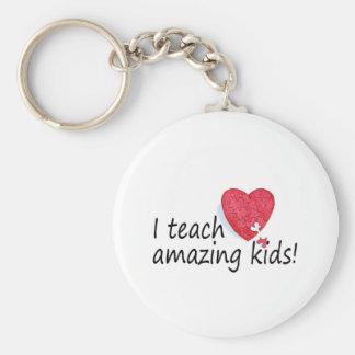 I Teach Amazing Kids Basic Round Button Keychain