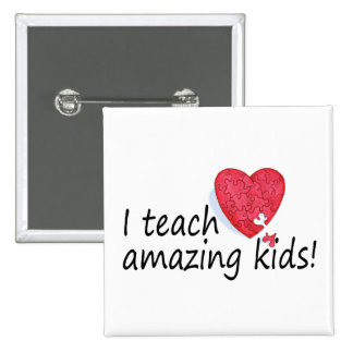 I Teach Amazing Kids 2 Inch Square Button