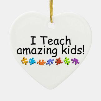 I Teach Amazing Kids Ceramic Ornament