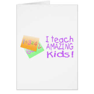 I Teach Amazing Kids (Numbers) Cards